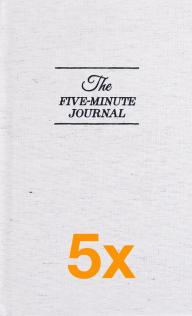 5 x The Five Minute Journal (Aanbiedingen)